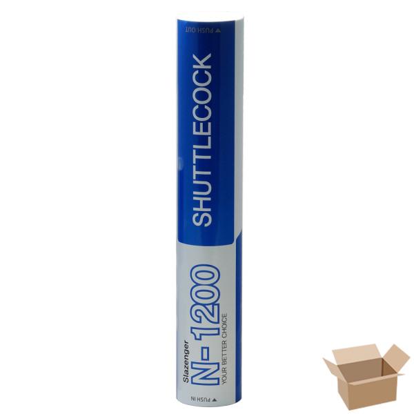 INBOX_Slazenger 슬레진저 배드민턴 나일론 셔틀콕 12개입 N-1200_50입